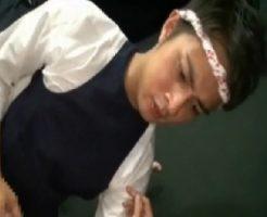 【ゲイ動画 FC2】寿司職人のような格好をした超イケメンがSっぽくチンコとケツ穴を責めまくる