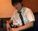 【ゲイ動画】ショタ系高校生にオナニー撮影のお願い→カメラマンから言葉責めされながらドクドクと射精