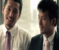 【ゲイ動画 pornhub】イケメンスーツリーマン同士のガチホモセックス!