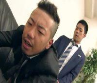 【ゲイ動画 pornhub】残業リーマンのスーツがザーメンまみれになる淫乱オフィス!